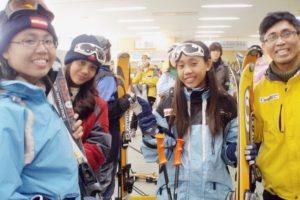 Snow skiing in Korea